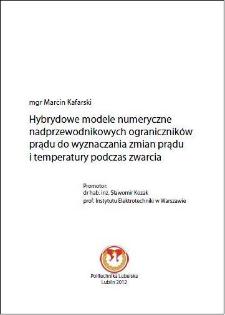 Hybrydowe modele numeryczne nadprzewodnikowych ograniczników prądu do wyznaczania zmian prądu i temperatury podczas zwarcia
