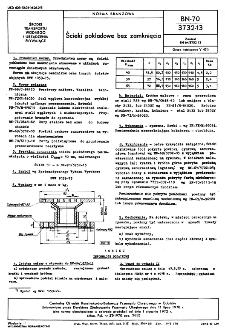 Ścieki pokładowe bez zamknięcia BN-70/3732-13