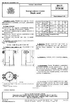 Rurociągi pomiarowe okrętowe - Stopki sond BN-71/3731-38