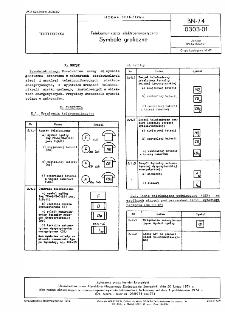 Telekomunikacja elektroenergetyczna - Symbole graficzne BN-74/0303-01