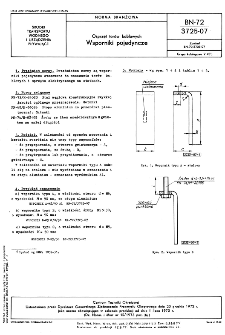 Osprzęt torów kablowych - Wsporniki pojedyncze BN-72/3725-07