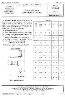 Złącza do węży gumowych okrętowe BN-74/3731-01