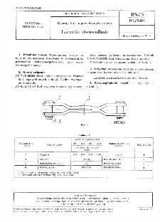 Osprzęt linii napowietrznych i stacji - Łączniki dwuwidlaste BN-73/0325-08