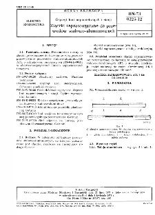 Osprzęt linii napowietrznych i stacji - Złączki zaprasowywane do przewodów stalowo-aluminiowych BN-73/0325-12