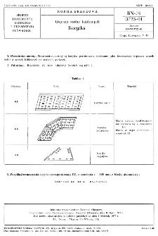 Osprzęt torów kablowych - Korytka BN-76/3725-01