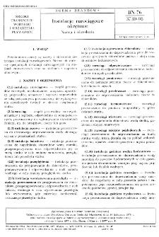 Instalacje rurociągowe okrętowe - Nazwy i określenia BN-76/3730-08