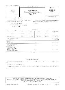 Wyroby azbestowe - Sznury termoizolacyjne typu APP BN-79/5422-01 Arkusz 04