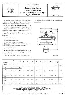 Zespoły zamykające z napędem ręcznym skrzyń zaworowych okrętowych pnom=< 10 kG/cm² BN-76/3732-15