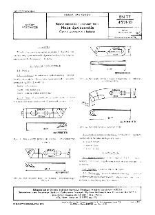 Ręczne narzędzia i przyrządy leśne - Noże żywiczarskie - Ogólne wymagania i badania BN-77/4521-10