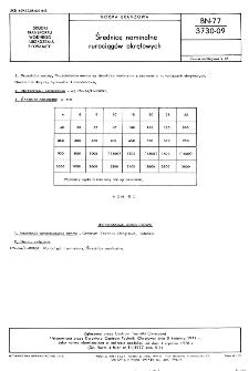Średnice nominalne rurociągów okrętowych BN-77/3730-09