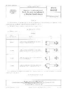 Wyposażenie tokarek rewolwerowych - Imaki do noży oprawkowych z chwytem kwadratowym BN-78/4441-02