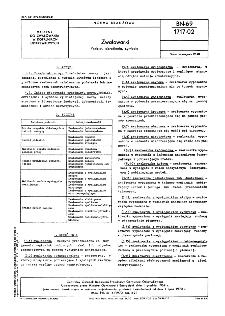 Zwałowarki - Podział, określenia, symbole BN-69/1717-02