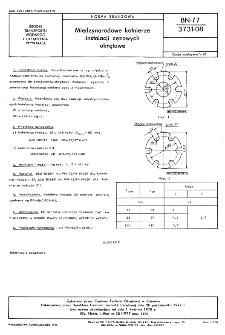 Międzynarodowe kołnierze instalacji zęzowych okrętowe BN-77/3731-08