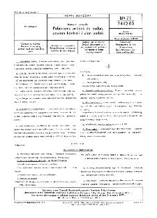 Materiał zecerski - Pobieranie próbek do badań, poziom kontroli i plan badań BN-77/7442-03