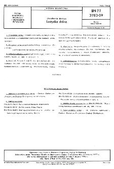 Urządzenia sterowe - Łożyska dolne BN-77/3783-09