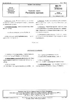 Urządzenia sterowe - Pierścienie oporowe BN-77/3783-10
