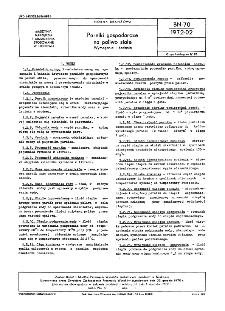 Parniki gospodarcze na paliwo stałe - Wymagania i badania BN-70/1972-02
