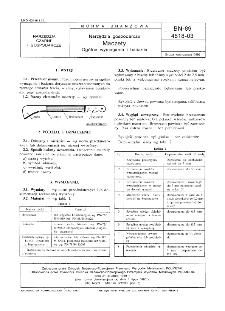 Narzędzia gospodarcze - Maczety - Ogólne wymagania i badania BN-89/4518-03