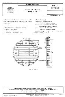 Skrzynie wody zaburtowej - Kraty i sita BN-77/3792-02