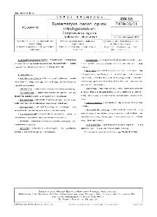 Systematyka badań opraw introligatorskich - postanowienia ogólne i wskaźniki jakościowe BN-85/7459-03/01