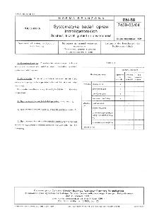 Systematyka badań opraw introligatorskich - ścisłość, kształt grzbietu i otwieralność BN-88/7459-03/04