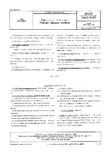 Półprodukty do farb graficznych - Pokosty olejowe roślinne BN-81/7462-10.05