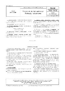 Półprodukty do farb graficznych - Pokosty toluenowe BN-90/7462-10/08