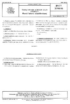 Rurociągi refulacyjne pogłębiarek ssących śródlądowych - Maszt latarni oświetleniowej BN-77/3798-06