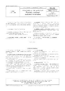 Półprodukty do farb graficznych - Pokosty olejowe roślinno-mineralne BN-90/7462-10/10