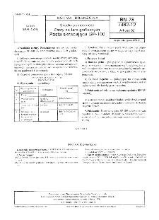 Środki pomocnicze - Pasty do farb graficznych - Pasta skracająca SP-100 BN-78/7462-12 Arkusz 02