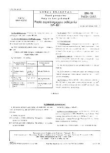 Środki pomocnicze - Pasty do farb graficznych - Pasta zapobiegająca odbijaniu SP-101 BN-78/7462-12/03