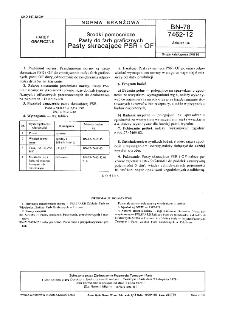 Środki pomocnicze - Pasty do farb graficznych - Pasty skracające PSR i OF BN-78/7462-12 Arkusz 04