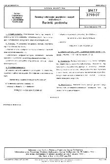 Rurociągi refulacyjne pogłębiarek ssących śródlądowych - Barierki pontonów BN-77/3798-07