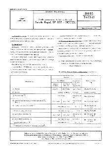 Środki pomocnicze do farb graficznych - Suszki Rapid, SP 107 i SICCOL BN-83/7462-13
