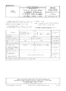 Farby typograficzne - Farby na maszyny rolowe o prędkości drukowania do 15000 obr/h, na papier gazetowy, czarne i szara BN-82/7463-02.05