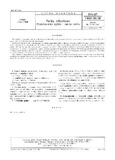 Farby offsetowe - Postanowienia ogólne i zakres normy BN-85/7463-03/00