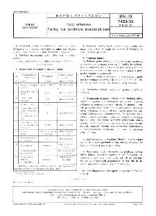 Farby offsetowe - Farby na maszyny rolowe na papiery powlekane i niepowlekane termoutwardzalne BN-79/7463-03.16