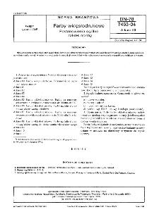 Farby wklęsłodrukowe - Postanowienia ogólne i zakres normy BN-78/7463-04 Arkusz 00