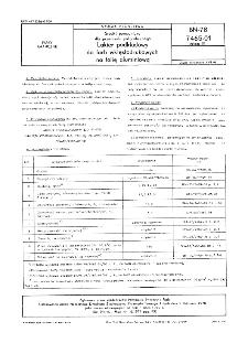 Środki pomocnicze dla przemysłu poligraficznego - Lakier podkładowy do farb wklęsłodrukowych na folię aluminiową BN-78/7465-01 Arkusz 01