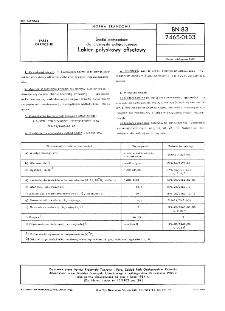 Środki pomocnicze dla przemysłu poligraficznego - Lakier połyskowy offsetowy BN-83/7465-01.03