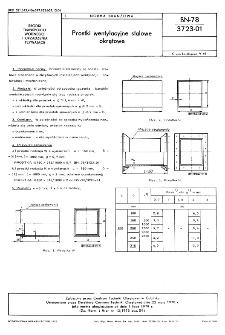 Prostki wentylacyjne stalowe okrętowe BN-78/3723-01