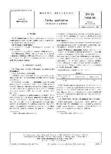 Farby graficzne - Oznaczanie połysku BN-85/7469-16