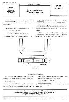 Osprzęt torów kablowych - Wsporniki kablowe BN-78/3725-17