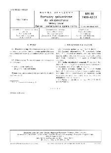 Roztwory galwaniczne do wklęsłodruku - Metody badań - Zakres i postanowienia ogólne normy BN-86/7469-42/01