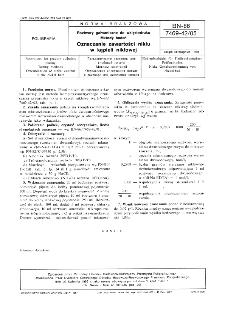 Roztwory galwaniczne do wklęsłodruku - Metody badań - Oznaczanie zawartości niklu w kąpieli niklowej BN-86/7469-42/05