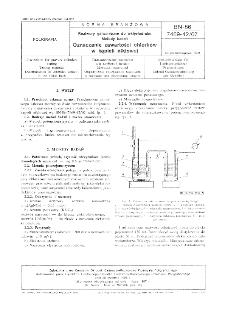 Roztwory galwaniczne do wklęsłodruku - Metody badań - Oznaczanie zawartości chlorków w kąpieli niklowej BN-86/7469-42/07