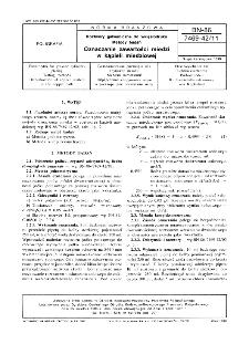 Roztwory galwaniczne do wklęsłodruku - Metody badań - Oznaczanie zawartości miedzi w kąpieli miedziowej BN-86/7469-42/11