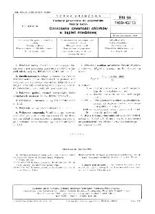 Roztwory galwaniczne do wklęsłodruku - Metody badań - Oznaczanie zawartości chlorków w kąpieli miedziowej BN-86/7469-42/13