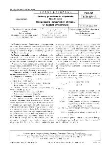 Roztwory galwaniczne do wklęsłodruku - Metody badań - Oznaczanie zawartości chromu w kąpieli chromowej BN-86/7469-42/15