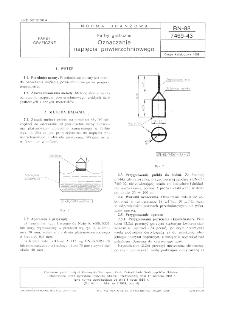 Farby graficzne - Oznaczanie napięcia powierzchniowego BN-88/7469-43